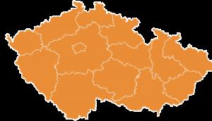 CORA mapka ČR
